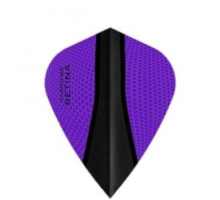 Lot de 3 ailettes de fléchette Kite Harrows Retina-X Purple 380