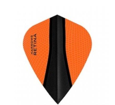 Lot de 3 ailettes de fléchette Kite Harrows Retina-X Orange 381