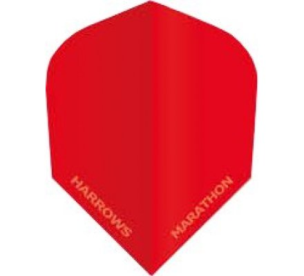 Lot de 3 ailettes de fléchette standard Harrows Marathon Rouge M1515