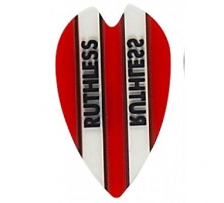 Lot de 3 ailettes Coeur RUTHLESS BANDEAU ROUGE R902