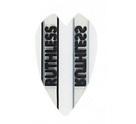 Lot de 3 ailettes mini coeur Ruthless Blanche R921