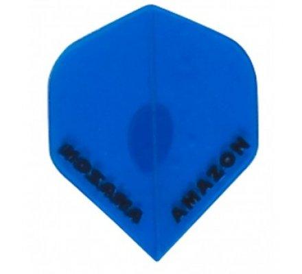 Lot de 3 ailettes de flechettes Amazon Slim Transparente Bleu A628