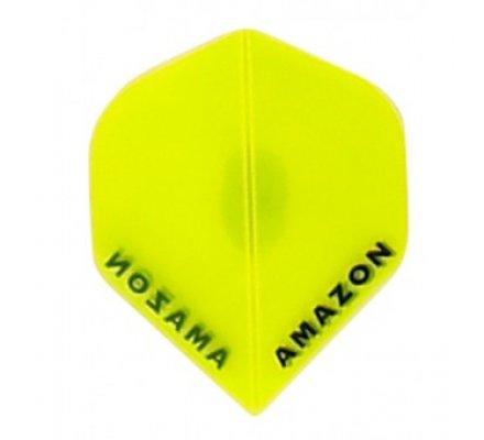 Lot de 3 ailettes de flechettes Amazon Standard Transparente Jaune A105
