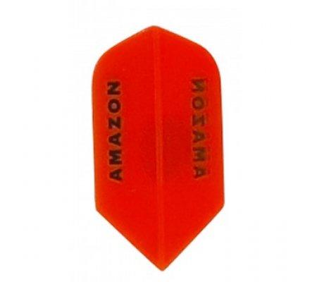 Lot de 3 ailettes de flechettes Amazon Slim Transparente Orange A632