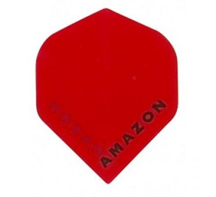 Lot de 3 ailettes de flechettes Standard Amazon Rouge A192