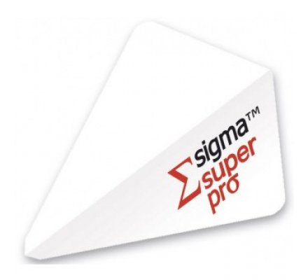 Lot de 3 ailettes Super Pro SIGMA WHITE 68447