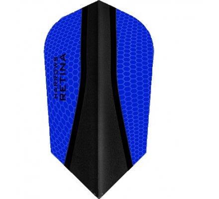 Lot de 3 ailettes de fléchette Slim Harrows Retina-X Bleu Roi 589