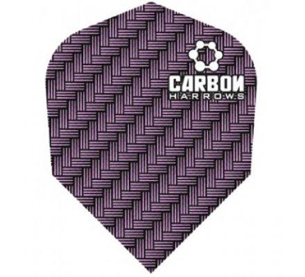 Lot de 3 ailettes de fléchette standard Carbon-Purple-1203