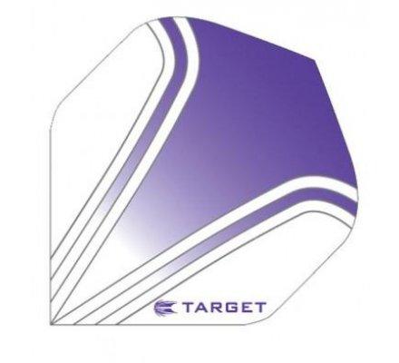 Lot de 3 ailettes Standard Target Pro Transparente SPORT 90 PURPLE T1358