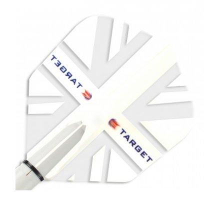 Lot de 3 ailettes Standard Target Vision White Union Jack T0656