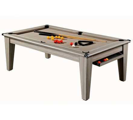 Billard Pool convertible en Table Le York 7ft Bois Flotté