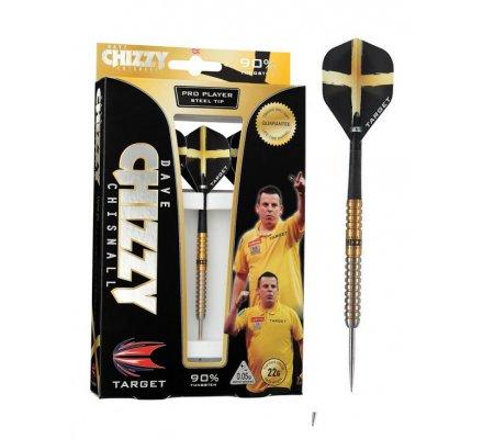 Jeu de flechettes Acier Target Dave 'CHIZZY' Chisnall  Gold 22gr T7355.