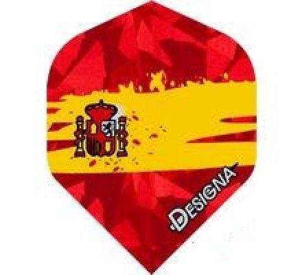 Lot de 3 ailettes Designa Patriote Espagne D102