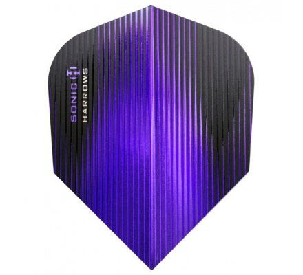 Lot de 3 ailettes de fléchette standard Harrows Sonic Purple S0328