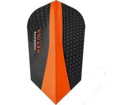 Lot de 3 ailettes de fléchette Slim Harrows Retina Orange 187