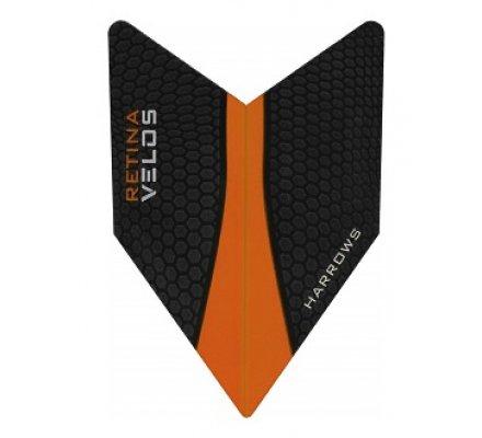 Lot de 3 ailettes de fléchette Harrows Velos Orange V222