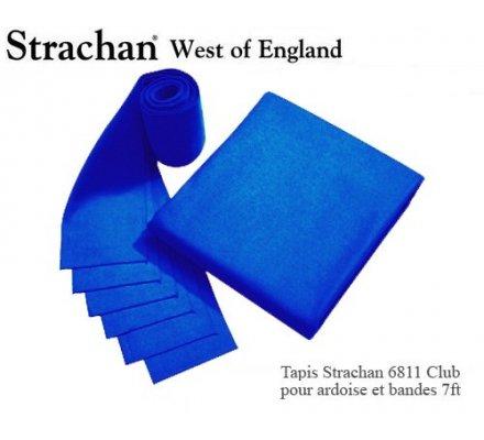 Tapis de billard 6811 Strachan Club Pré Découpé 7ft Bleu