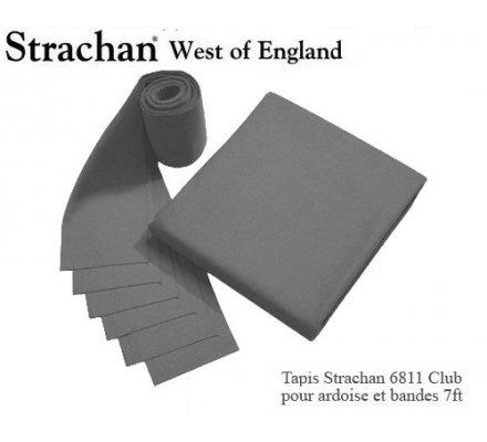 Tapis de billard 6811 Strachan Club Pré Découpé 7ft Gris