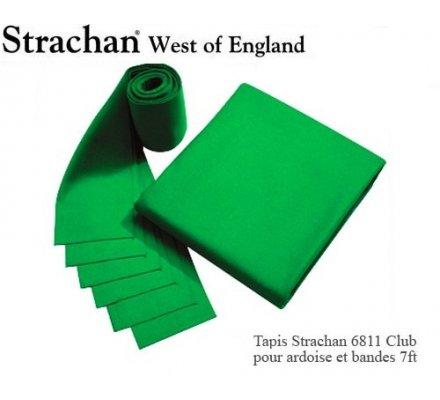 Tapis de billard 6811 Strachan Club Pré Découpé 7ft Vert