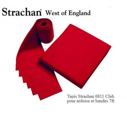 Tapis de billard 6811 Strachan Club Pré Découpé 7ft Rouge