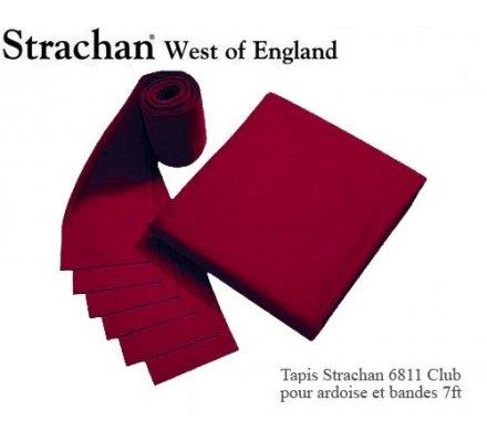 Tapis de billard 6811 Strachan Club Pré Découpé 7ft Bordeaux