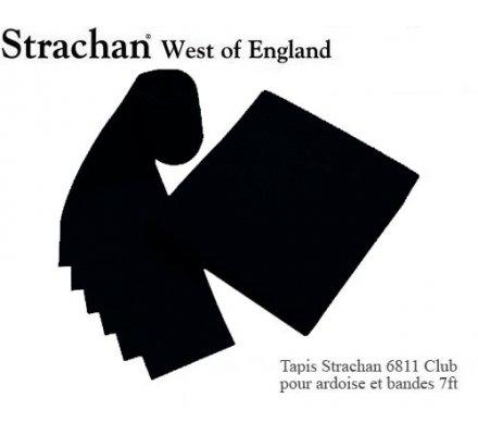Tapis de billard 6811 Strachan Club Pré Découpé 7ft Noir