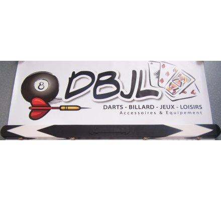 Boitier queue de billard D39 Cuir Rigide Blanc/Noir