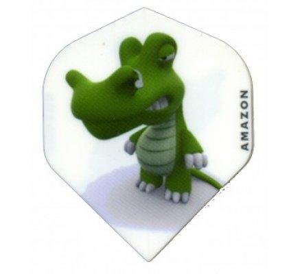 Lot de 3 ailettes Standard Cartoon Crocodile C01