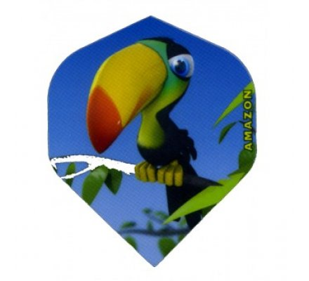 Lot de 3 ailettes Standard Cartoon Toucan C02