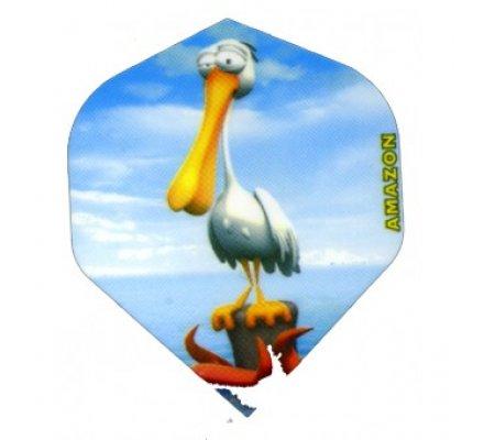 Lot de 3 ailettes Standard Cartoon Pelican C07