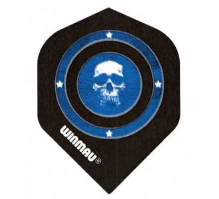 Lot de 3 ailettes Standard Winmau Skull in Blue Circle W112