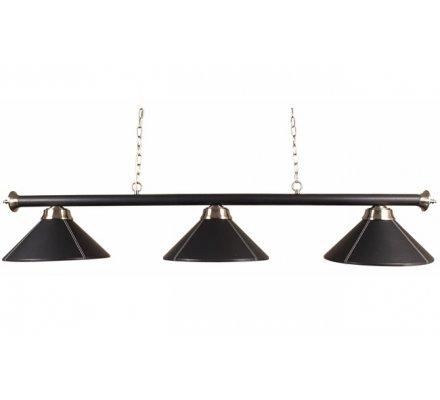 Luminaire noir 3 Globes Simili cuir G145SC