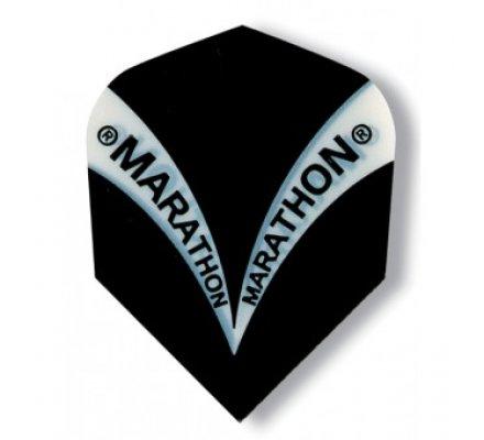 Ailette de fléchette standard Harrows Marathon Noire M1500