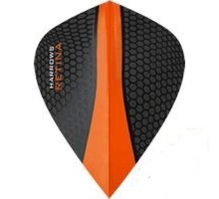 Lot de 3 ailettes de fléchette Kite Harrows Retina Orange 0182