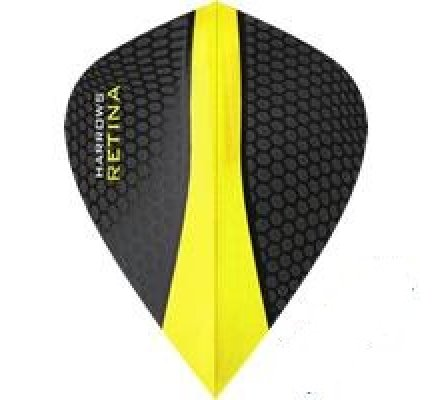 Lot de 3 ailettes de fléchette Kite Harrows Retina Jaune 0184
