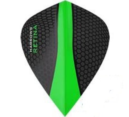 Lot de 3 ailettes de fléchette Kite Harrows Retina Verte 0185