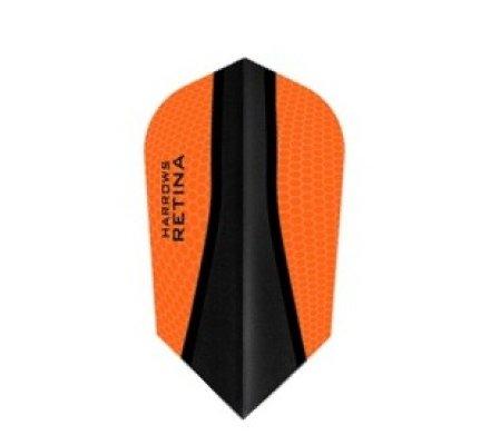 Lot de 3 ailettes de fléchette Slim Harrows Retina-X Orange 462