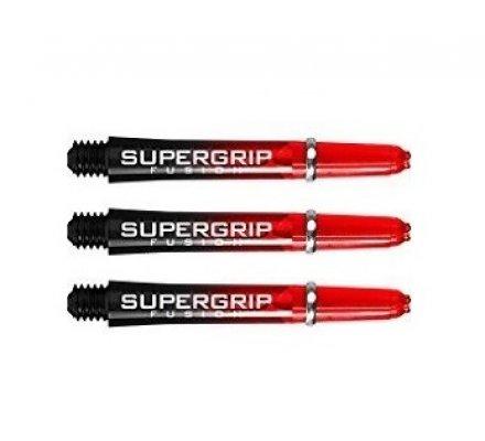 Lot de 3 tiges de fléchettes Supergrip Fusion Black/Rouge Intermediare SP905