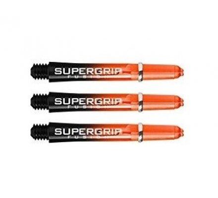 Lot de 3 tiges de fléchettes Supergrip Fusion Black/Orange Courte SP917