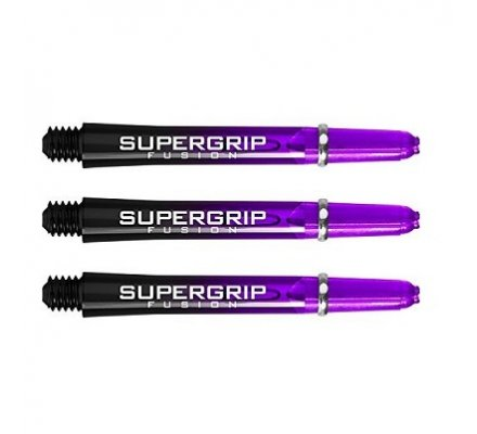 Lot de 3 tiges de fléchettes Supergrip Fusion Black/Violet Intermediare SP911