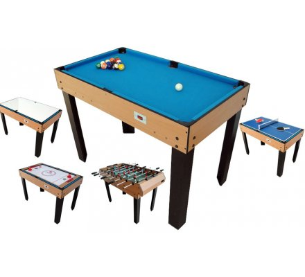 Table Multi Jeux 12 en 1 Bois  W470P