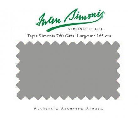 Tapis de billard Simonis 760 165 cm gris