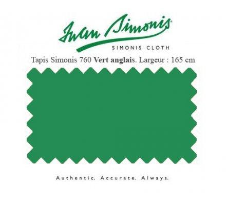 Tapis de billard Simonis 760 165 cm Vert