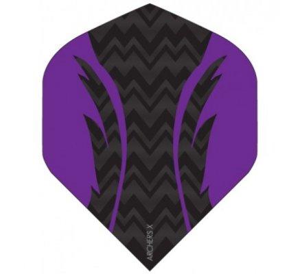Lot de 3 ailettes de fléchette Standard Archers violet X009