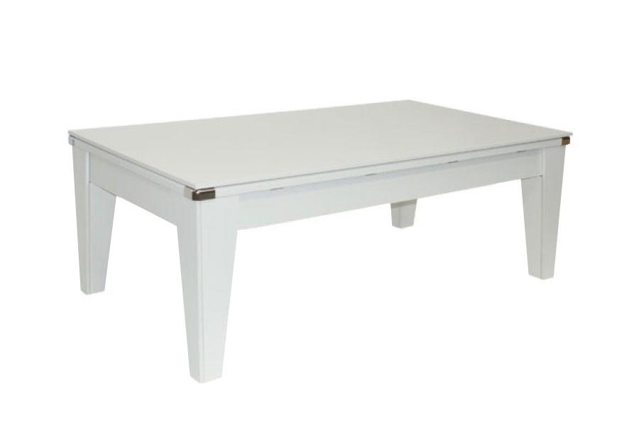 Billard table le billard transformable dbjl table de billard transformable newport blanc - Table de billard transformable ...
