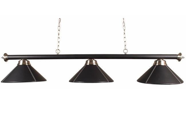 dbjl luminaire noir 3 globes simili cuir dbjl dart billards jeux loisirs. Black Bedroom Furniture Sets. Home Design Ideas