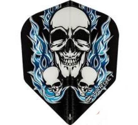 Lot de 3 ailettes Target Vision Black Blue 3 Skull T2097