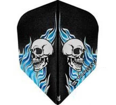 Lot de 3 ailettes Target Vision Black Blue 2 Skull  T2177