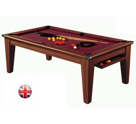 Billard Table Convertible en Pool York 7ft Chêne Foncé